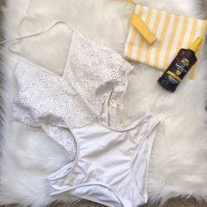 White Monokini